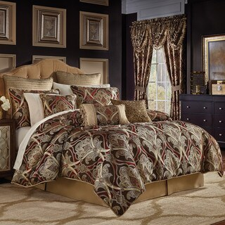 Croscill Bradney Chenille Jacquard Woven Damask 4 Piece Comforter Set (3 options available)