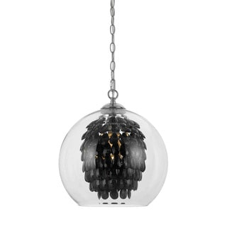 Elements 9104-1H Black Crystal/Glass Chandelier
