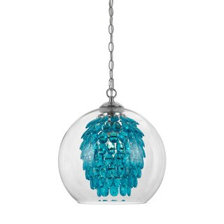 Elements 9102-1H Glitzy Turquoise Chandelier