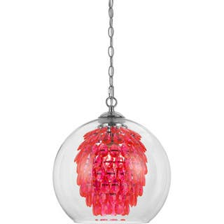 Buy red ceiling lights online at overstock our best lighting deals elements hot pink glitzy chandelier mozeypictures Image collections