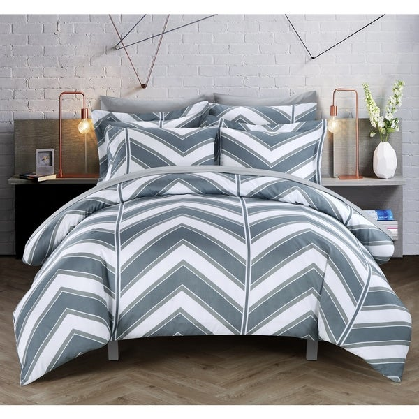 Chic Home Dallas Grey 3-piece Duvet Cover Set