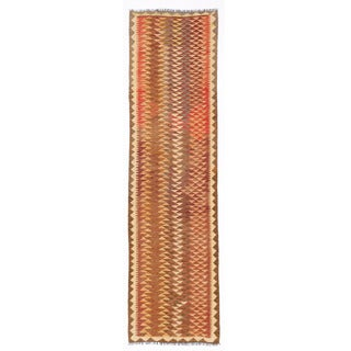 Herat Oriental Afghan Hand-woven Mimana Kilim Rust/ Ivory Wool Runner (2'6 x 9'9)
