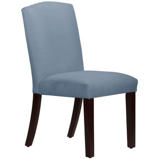 Skyline Furniture Espresso Finish Velvet Ocean Wood/Fabric Arched Dining Chair