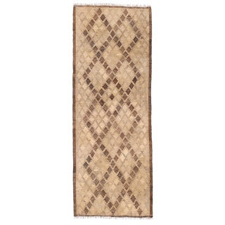 Herat Oriental Afghan Hand-woven Wool Mimana Kilim Runner (2'4 x 6'6)