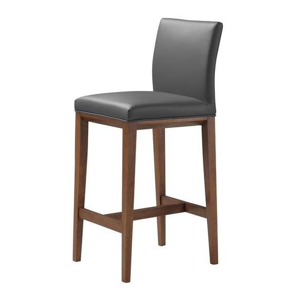 Simone Leather Bar Chair: Shop Aurelle Home Mid Century Modern Grey Leather Bar
