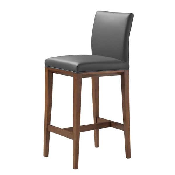 Phenomenal Shop Aurelle Home Mid Century Modern Grey Leather Bar Stool Andrewgaddart Wooden Chair Designs For Living Room Andrewgaddartcom