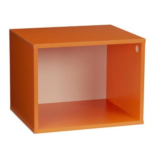 Household Essentials Orange Laminate Storage Cubby System