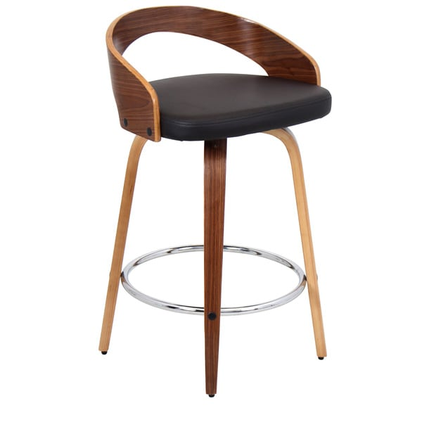 zuo modern counter stools boxter stool grotto leather mid century discount