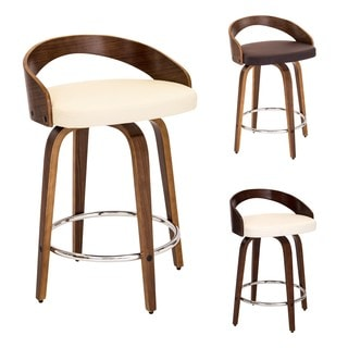 LumiSource Grotto Faux Leather Mid-century Modern Counter Stool  sc 1 st  Overstock.com & Mid-Century Bar u0026 Counter Stools - Shop The Best Deals for Nov ... islam-shia.org