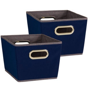 Household Essentials Small Tapered Storage Bins (Set of 2)