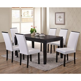 K&B PC54-W Parsons Chairs (Set of 2)