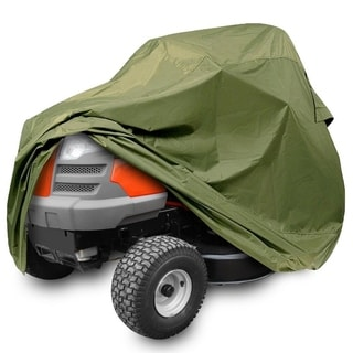 Pyle PCVLTR11 Armor Shield Green Universal Size Indoor/Outdoor Lawn Tractor Mower Protective Storage Cover