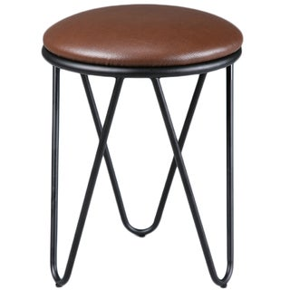 K and B Furniture Co Inc ST1503-BL Metal Stools (Set of 2)