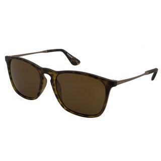 Timberland Unisex Green/Tortoise Plastic/Metal Mirrored Polarized Lens Sunglasses