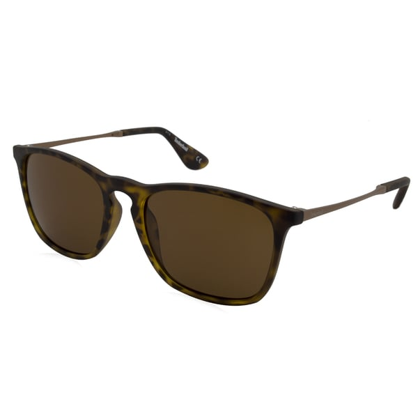 4bab7ad8a1 Timberland Unisex Green Tortoise Plastic Metal Mirrored Polarized Lens  Sunglasses