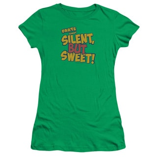 Farts Candy/Silent But Sweet Junior Sheer in Kelly Green