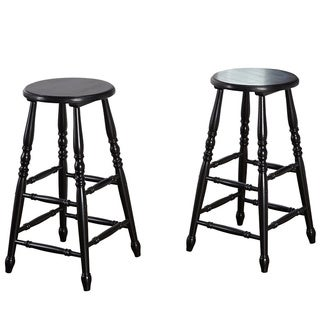 Mintra 29-inch Turned Leg Counter Height Stool (Set of 2)