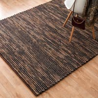 Hand-woven Thais Coconut Felted Wool Rug - 5' x 7'6