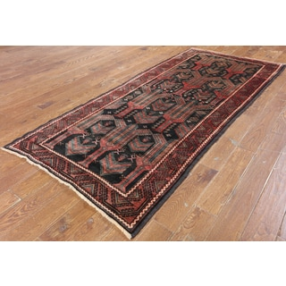 Hand-Knotted Oriental Persian Black Wool Rug (3'10 x 8'10)
