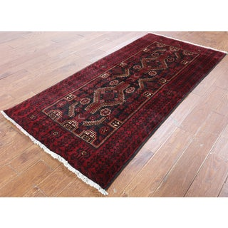 Hand-Knotted Oriental Persian Black Wool Rug (3' 4 x 6'10)