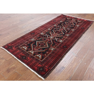 Hand-Knotted Oriental Persian Black Wool Rug (3'5 x 7'3)