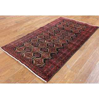 Hand-Knotted Oriental Persian Black Wool Rug (3'6 x 6'1)