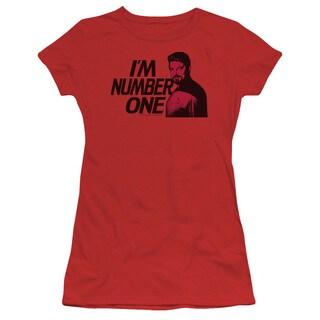 Star Trek/Im Number One Junior Sheer in Red