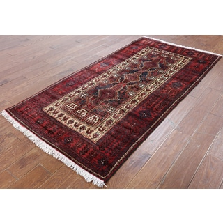 Hand-Knotted Oriental Persian Blue Wool Rug (3'6 x 6'7)