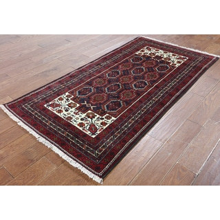 Hand-Knotted Oriental Persian Blue Wool Rug (3'5 x 6'6)