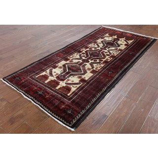 Hand-Knotted Oriental Persian Ivory Wool Rug (3'3 x 7'0)