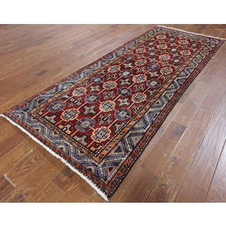 Hand-Knotted Oriental Persian Red Wool Rug (3'8 x 9'5)