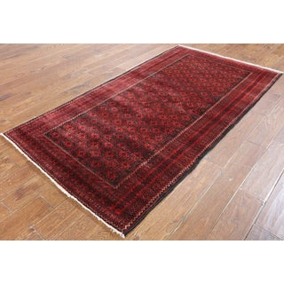 Hand-Knotted Oriental Persian Red Wool Rug (3'9 x 6'10)