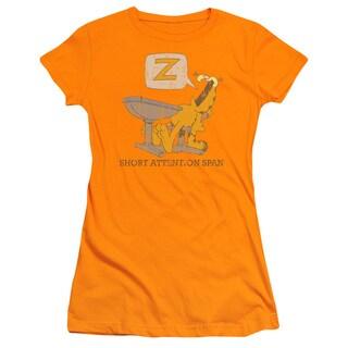 Garfield/Attention Span Junior Sheer in Orange