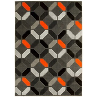 LYKE Home Orange Olefin Machine-made Area Rug (5' x 7')