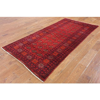 Hand-Knotted Oriental Persian Red Wool Rug (3'9 x 7'10)