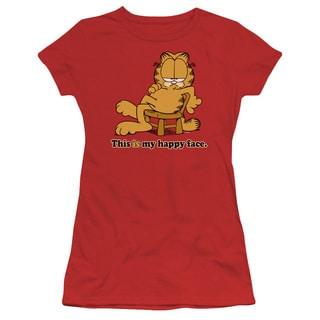 Garfield/Happy Face Junior Sheer in Red