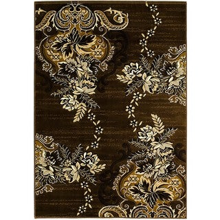 LYKE Home Chocolate Olefin Machine-made Area Rug (5' x 7')