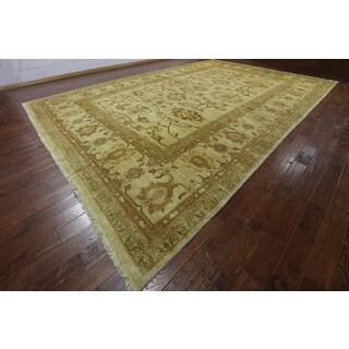 Hand-Knotted Oriental Peshawar Beige Wool Rug (12' 4 x 18' 4)