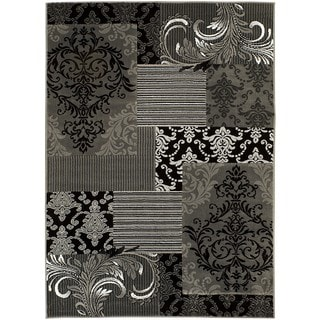 LYKE Home Shadow Grey Olefin Machine-made Area Rug (5' x 7')