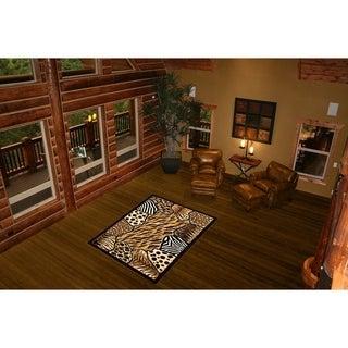 LYKE Home Safari Inspired Area Rug (5' x 8')