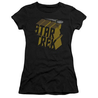 Star Trek/3D Logo Junior Sheer in Black