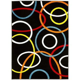 Lyke Home Infinity Multicolor Olefin Machine-made Yarn Area Rug (5' x 7')