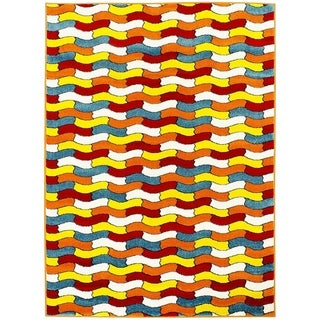 LYKE Home Multicolor Yarn Cross-weave Machine-made Area Rug (5 x 7`)