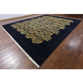 Hand-Knotted Oriental Ziegler Blue Wool Rug (12'0 x 15'1)