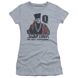 Star Trek/Q Point Junior Sheer in Athletic Heather