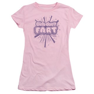 Farts Candy/Girls Don't Fart Junior Sheer in Pink