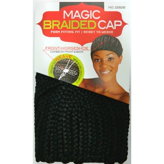 Magic Braided Cornrow Cap Cap Side Horseshoe With Front and Back Combs