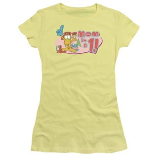 Garfield/Mom Is Number One Junior Sheer in Banana