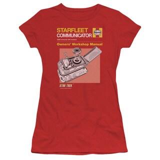 Star Trek/Comm Manual Junior Sheer in Red
