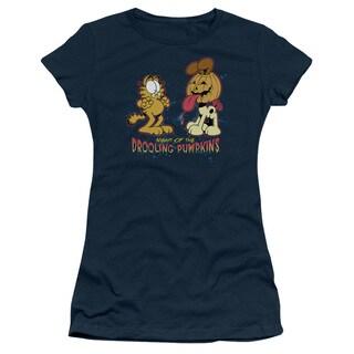 Garfield/Drooling Pumpkins Junior Sheer in Navy